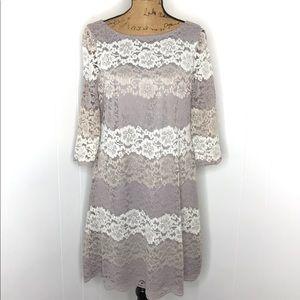 Jessica Howard Scalloped Lace Sheath Dress-Size 12